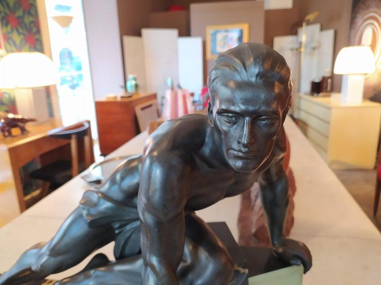 Original Rare Art Deco French Sculpture, 1930s 3