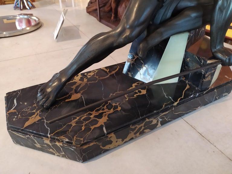 Original Rare Art Deco French Sculpture, 1930s 2