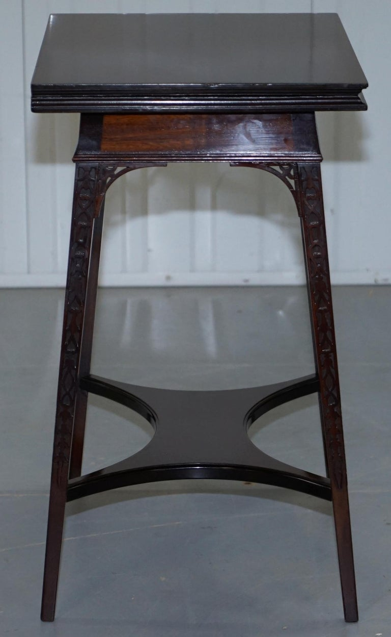 Original Rare Gillows Lancaster circa 1789-95 Mahogany Fold Over Game Card Table For Sale 3
