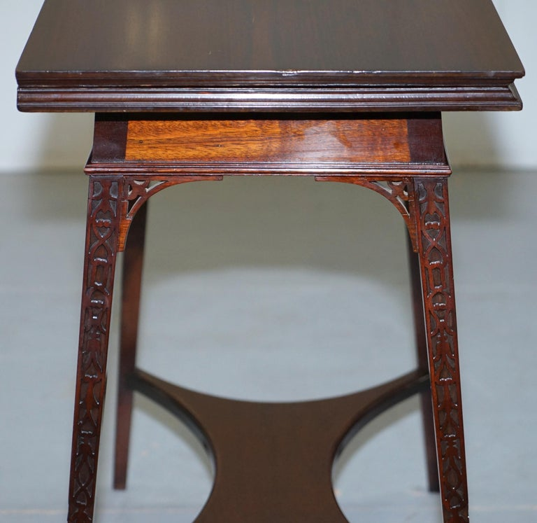Original Rare Gillows Lancaster circa 1789-95 Mahogany Fold Over Game Card Table For Sale 4