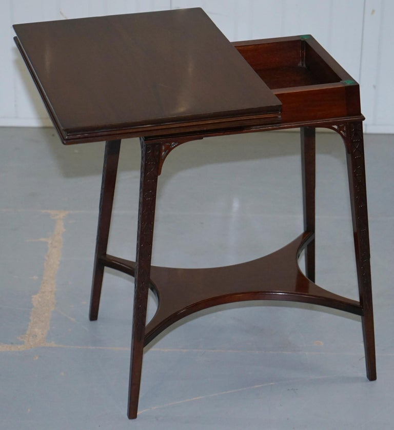 Original Rare Gillows Lancaster circa 1789-95 Mahogany Fold Over Game Card Table For Sale 5