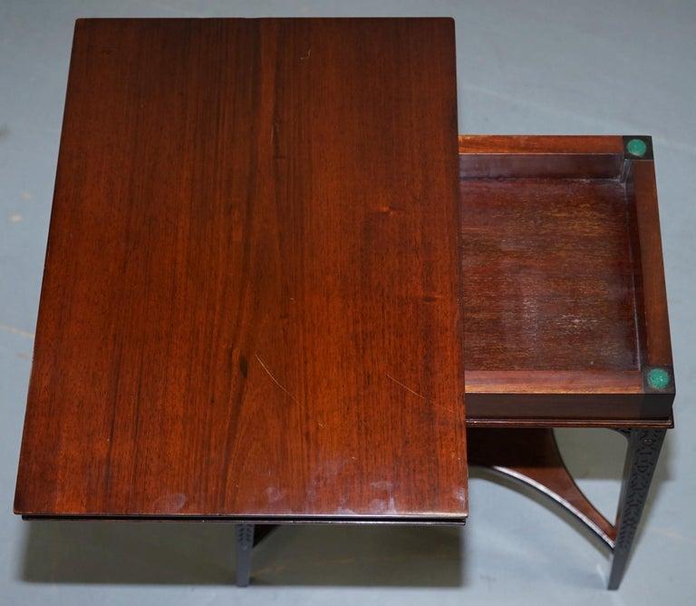 Original Rare Gillows Lancaster circa 1789-95 Mahogany Fold Over Game Card Table For Sale 6
