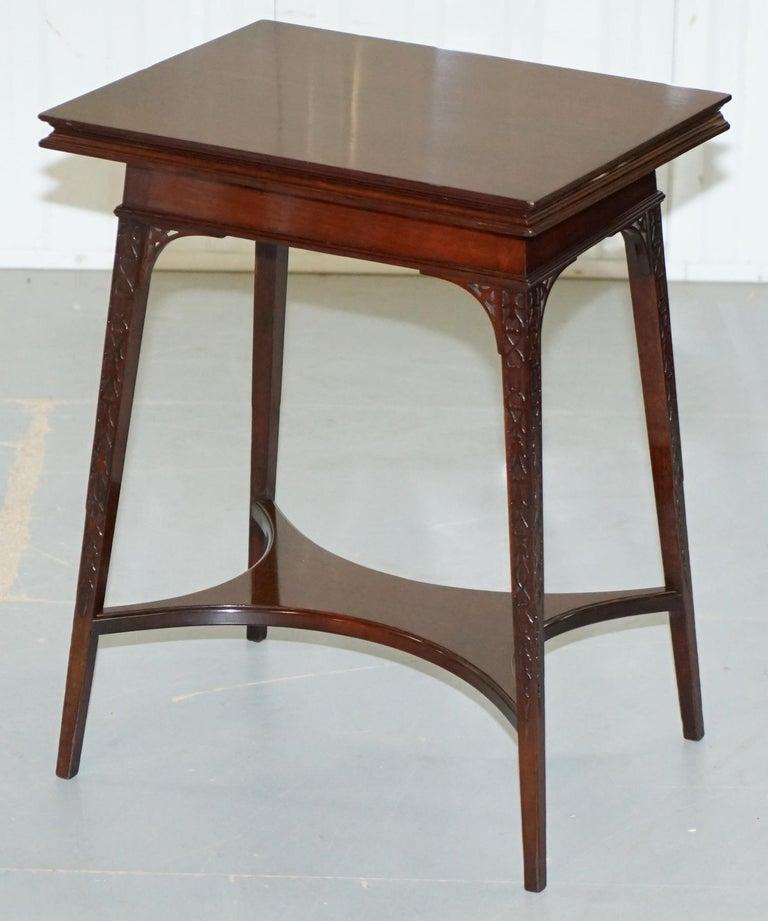 Georgian Original Rare Gillows Lancaster circa 1789-95 Mahogany Fold Over Game Card Table For Sale