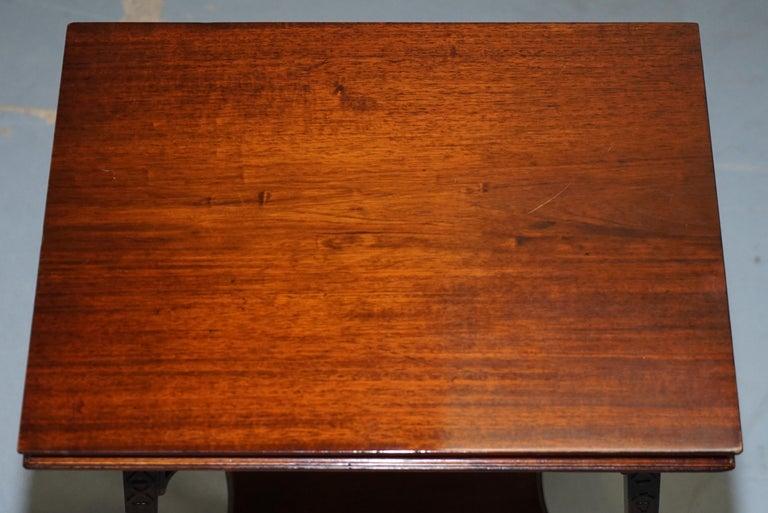 English Original Rare Gillows Lancaster circa 1789-95 Mahogany Fold Over Game Card Table For Sale