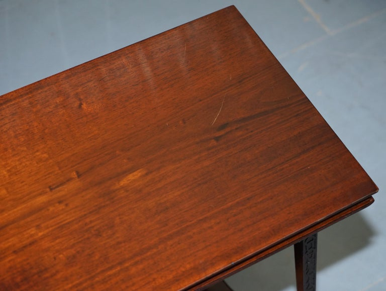 Hand-Crafted Original Rare Gillows Lancaster circa 1789-95 Mahogany Fold Over Game Card Table For Sale