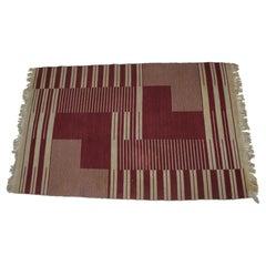Original Rare Modernist Abstract Geometric Carpet by Antonín Kybal, 1948