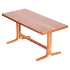 Original Rectangular Oak Table, Czech Mid-Century Modern, 1960s