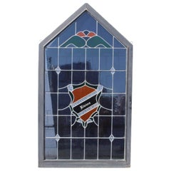 Original Riviera Country Club Stained Glass Window