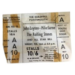 Original Rolling Stones 1964 Concert Ticket