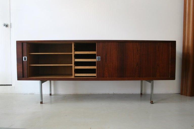 Danish Original Rosewood President Credenza / Sideboard by Hans Wegner RY-25 For Sale