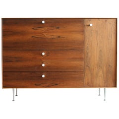 Original Rosewood Thin Edge Secretary Desk / Cabinet by George Nelson