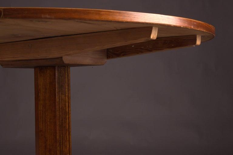 German Original Round Biedermeier Folding Table, circa 1820 For Sale