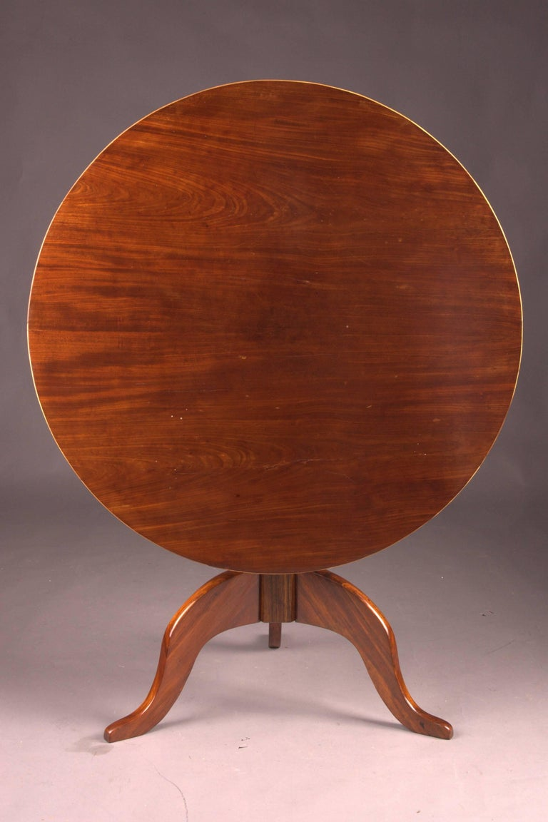 19th Century Original Round Biedermeier Folding Table, circa 1820 For Sale