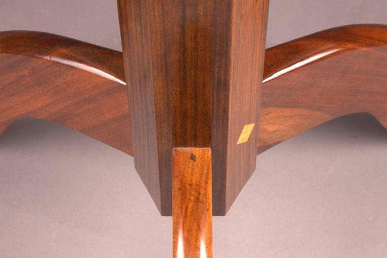 Mahogany Original Round Biedermeier Folding Table, circa 1820 For Sale