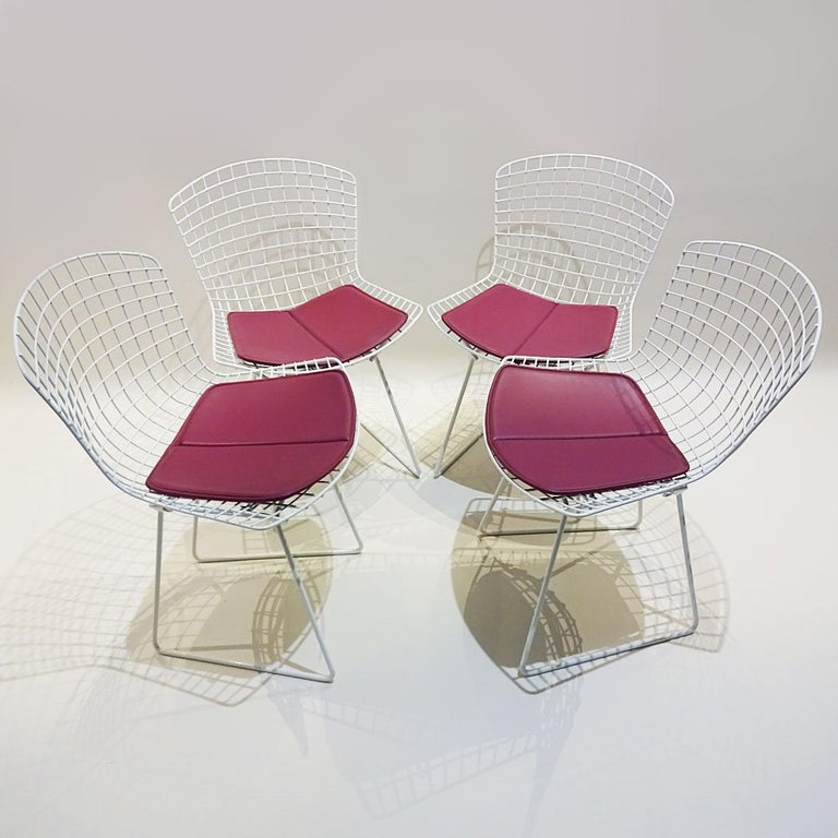 Original Saarinen Knoll Studio Marble Tulip Dining Table and Bertoia Wire Chairs For Sale 2