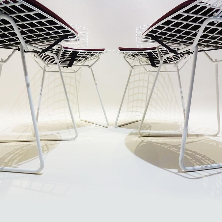 Original Saarinen Knoll Studio Marble Tulip Dining Table and Bertoia Wire Chairs For Sale 3