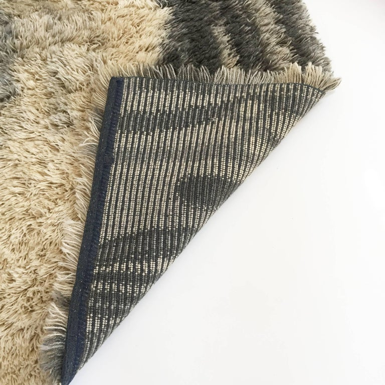 Original Scandinavian High Pile Pop Art Rya Rug By Ege
