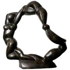 "Original Sculpture by Henri Delcambre, ""L'espace"" / ""the Space"""