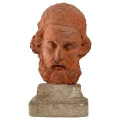 Original Sculpture in Terracotta, Herodotus