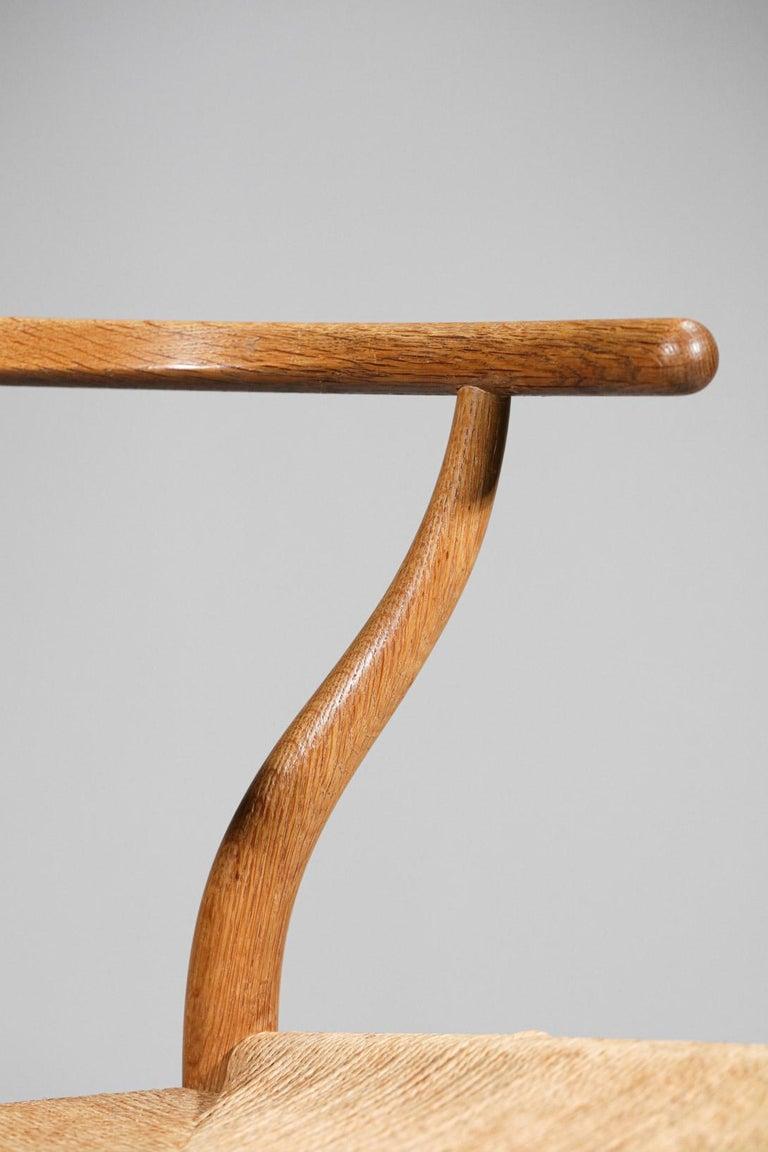 Original Set of 4 CH24 Chairs by Designer Hans Wegner Oak Danish Scandinavian For Sale 6