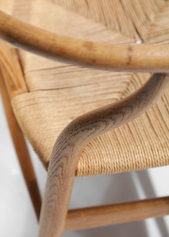Original Set of 4 CH24 Chairs by Designer Hans Wegner Oak Danish Scandinavian For Sale 11