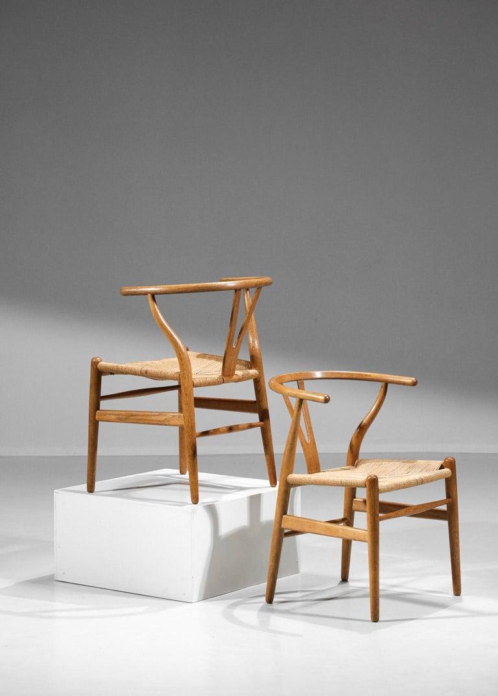 Original Set of 4 CH24 Chairs by Designer Hans Wegner Oak Danish Scandinavian For Sale 14