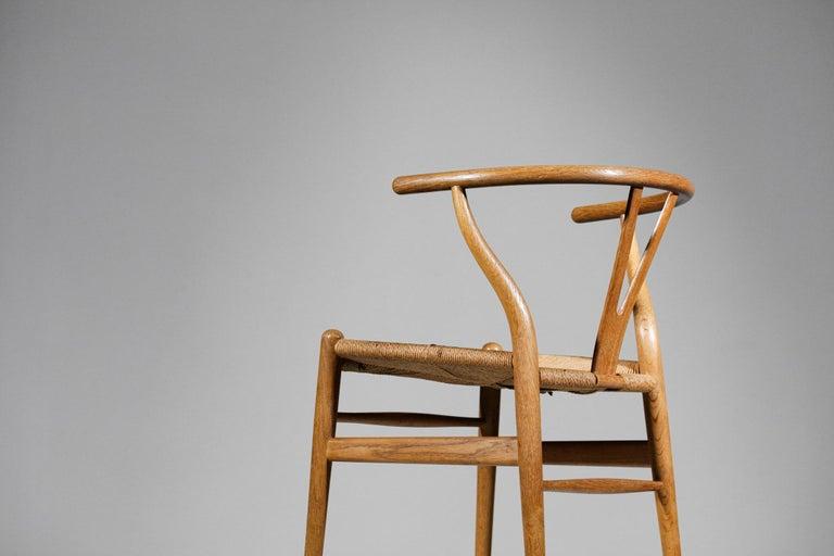Original Set of 4 CH24 Chairs by Designer Hans Wegner Oak Danish Scandinavian In Good Condition For Sale In Lyon, FR