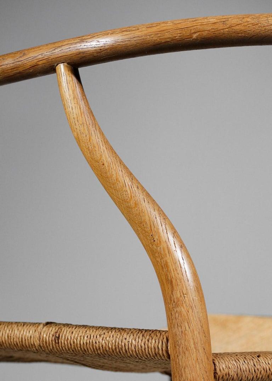Mid-20th Century Original Set of 4 CH24 Chairs by Designer Hans Wegner Oak Danish Scandinavian For Sale