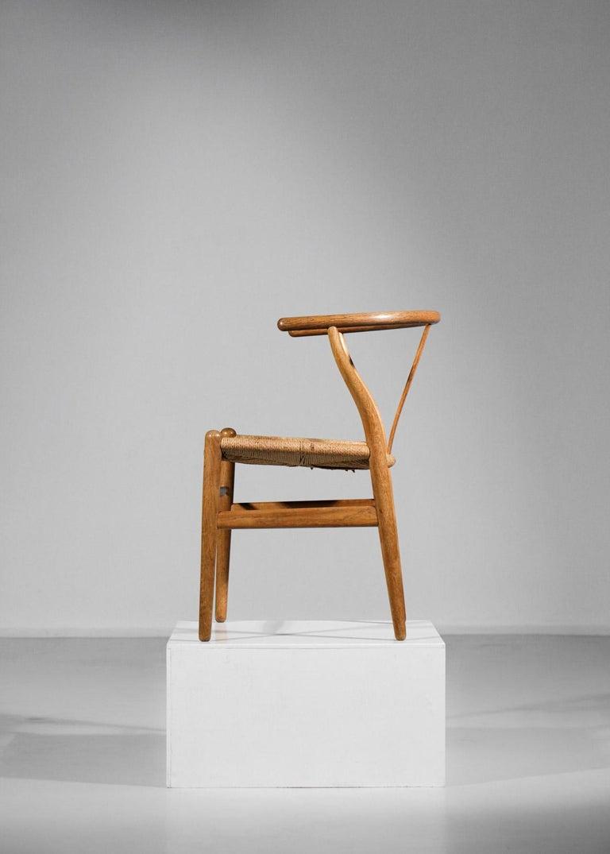 Original Set of 4 CH24 Chairs by Designer Hans Wegner Oak Danish Scandinavian For Sale 2