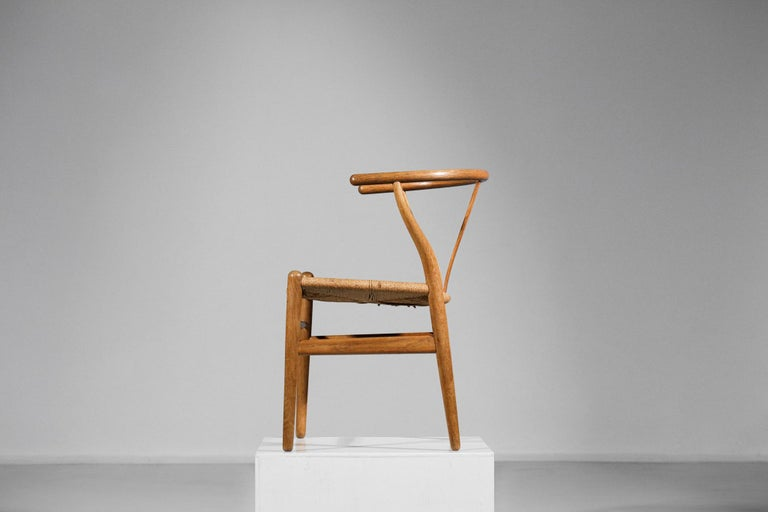 Original Set of 4 CH24 Chairs by Designer Hans Wegner Oak Danish Scandinavian For Sale 3