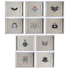 Original Set of Hermann Rorschach Inkblots from 1921