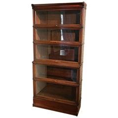 Original Set of Stackable Mahogany Inglesants Bookcases