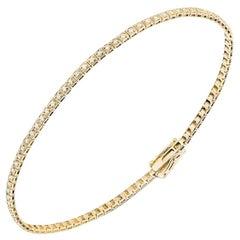 Original Setting Gold Yellow White Diamond Tennis Bracelet for Her