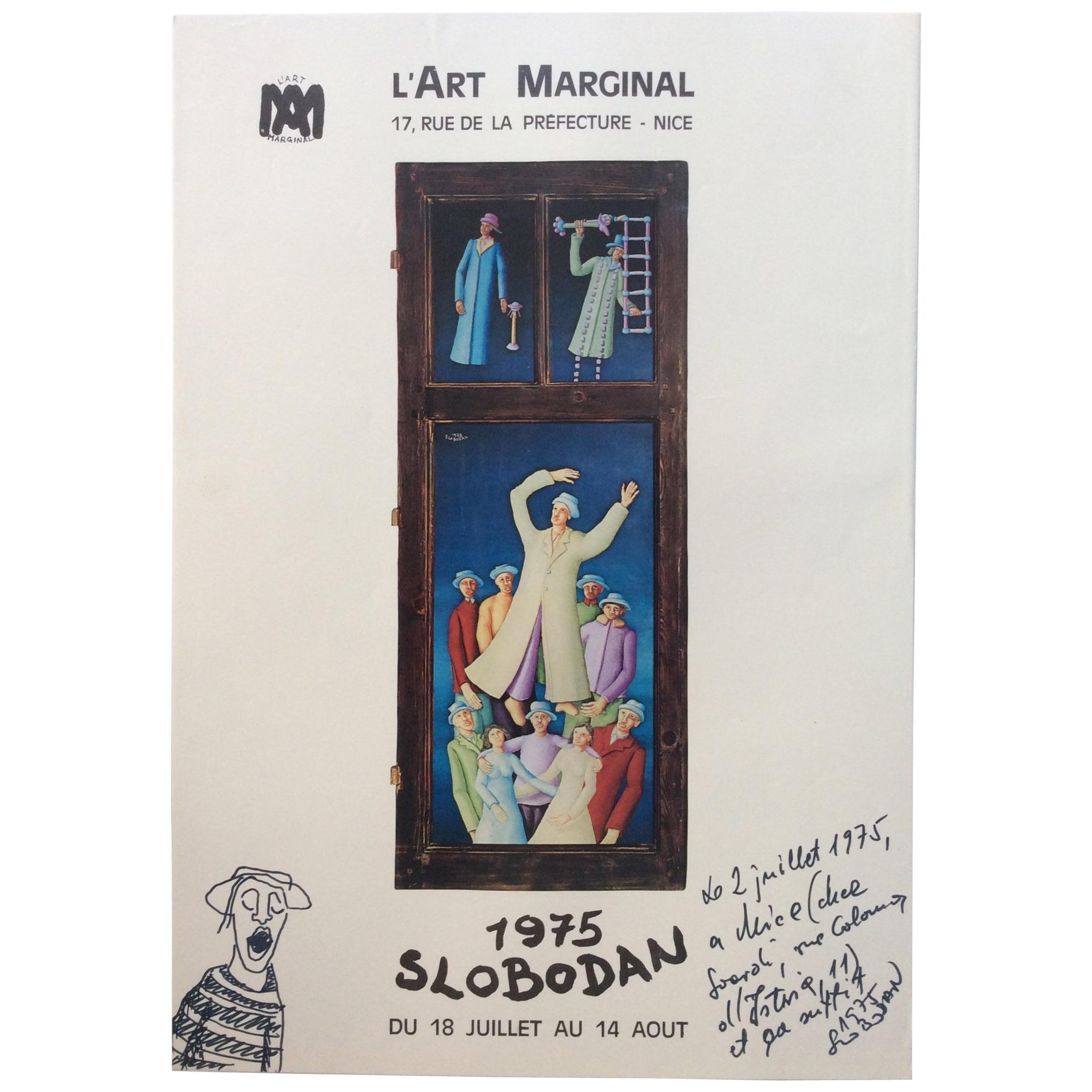 Original Signed Art Exhibition Poster by Artist Ivicevic Slobodan, 1975