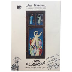 Original Signed Art Exhibition Poster by Artist Ivicevic Slobodan, 1975