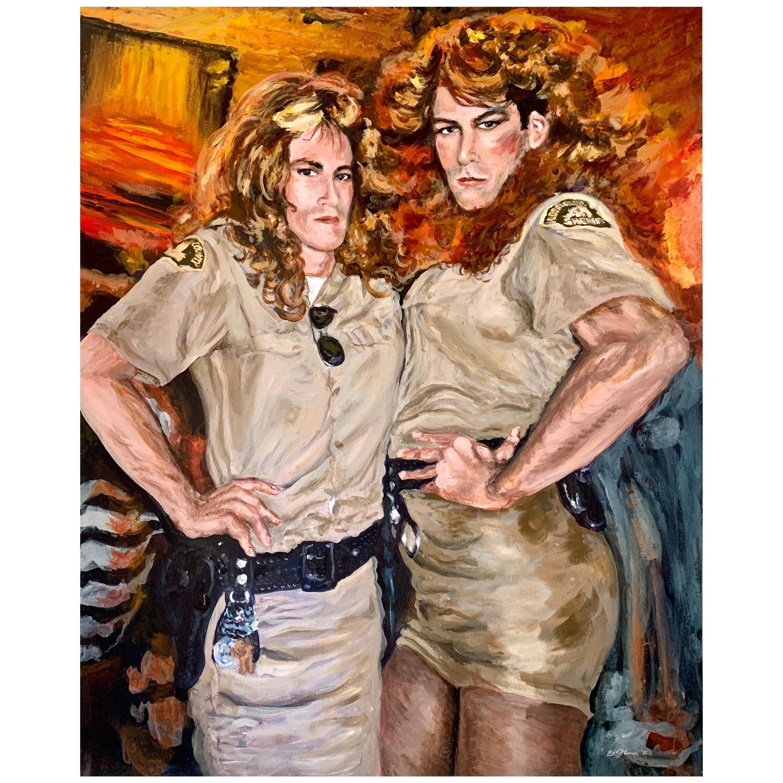 Original Signed Edd Jenner 1992 Oil Painting