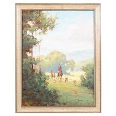 Original Signed Hunt Scene Painting