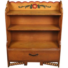 Original Signed Monterey Bookcase with Storage, circa 1930s