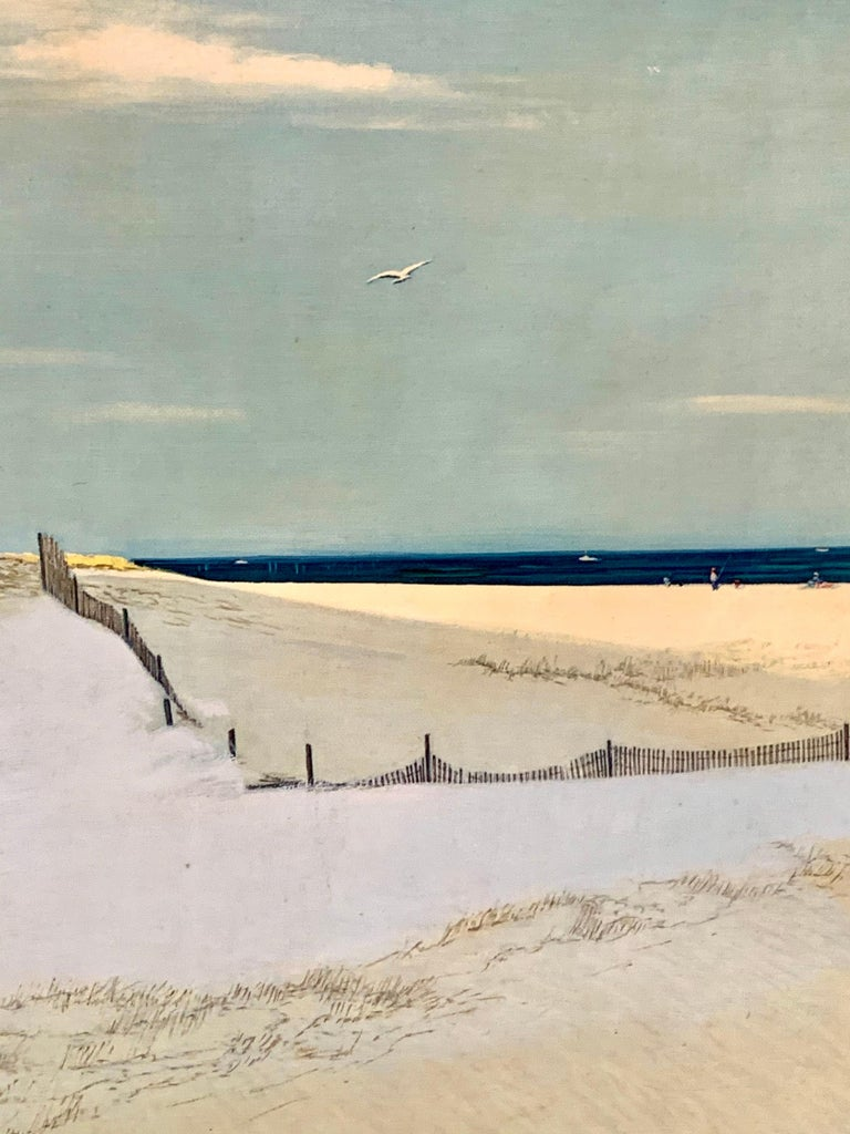 American Original Signed Oil Painting Cape Cod Dunes by Ben Collins For Sale