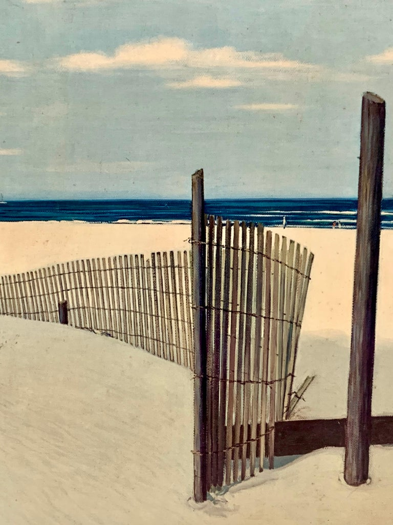 Original Signed Oil Painting Cape Cod Dunes by Ben Collins In Good Condition For Sale In West Hartford, CT