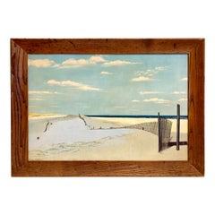 Original Signed Oil Painting Cape Cod Dunes by Ben Collins