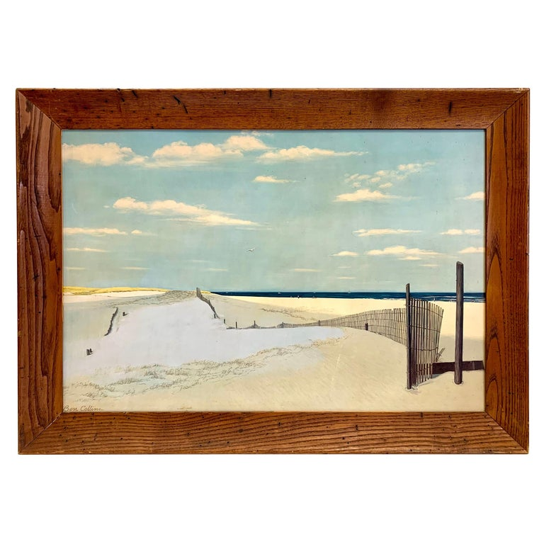 Original Signed Oil Painting Cape Cod Dunes by Ben Collins For Sale