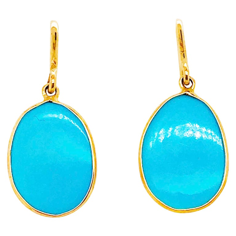Jewellery Making AAAA++++ Quality Sleeping Beauty Arizona Turquoise Pair Cabochon Best Price AG-8662 New Arrival Designer Earring Pair