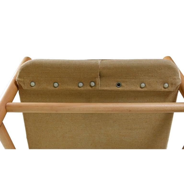 Original Solid Beechwood DUX Safari Junker Chairs by Bror Boije Made in Sweden For Sale 3