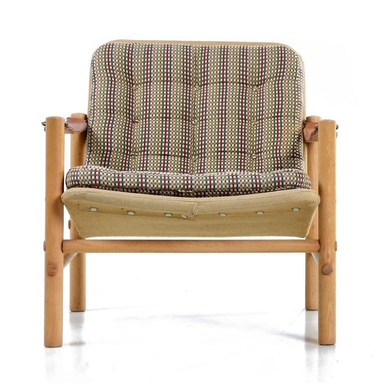 Swedish Original Solid Beechwood DUX Safari Junker Chairs by Bror Boije Made in Sweden For Sale