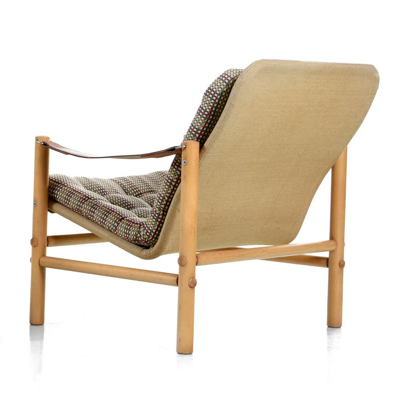 Original Solid Beechwood DUX Safari Junker Chairs by Bror Boije Made in Sweden In Excellent Condition For Sale In Saint Petersburg, FL