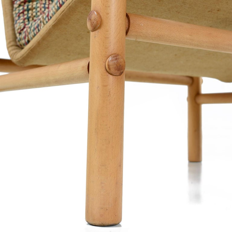 Original Solid Beechwood DUX Safari Junker Chairs by Bror Boije Made in Sweden For Sale 1