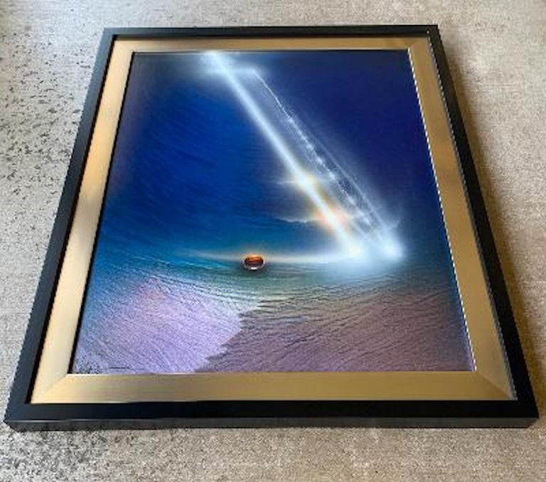 Visionary, abstract original acrylic on aluminum painting by famous NASA Space Artist, Andreas Nottebohn, titled