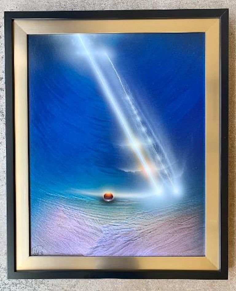Original Space Artist Andreas Nottebohm Acrylic on Aluminum Painting KNM 1387 For Sale 2