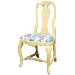 Original Swedish Rococo Chair, Late 18th Century